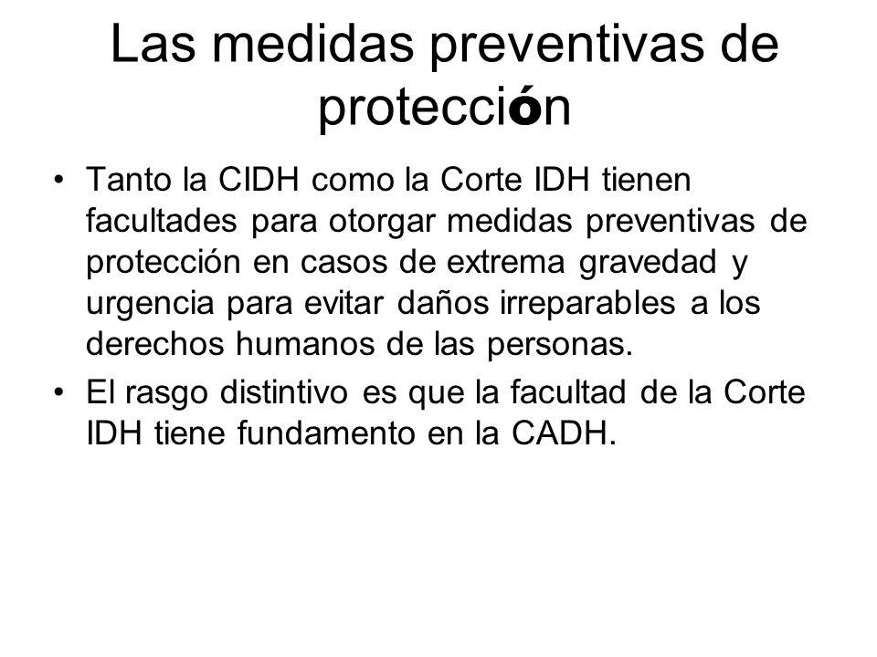 Las medidas preventivas de protección