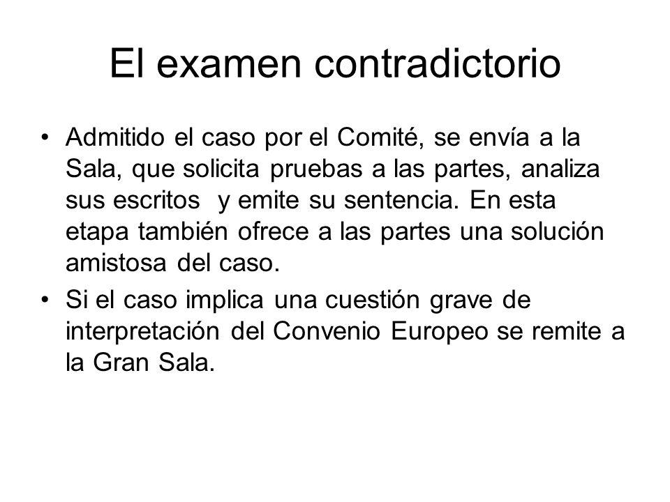 El examen contradictorio