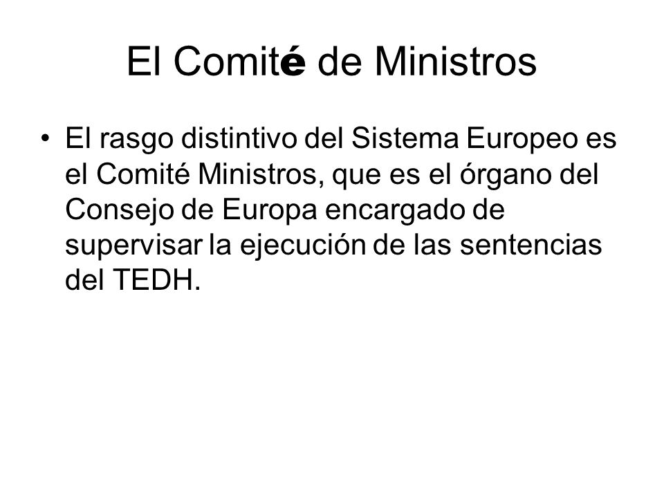 El Comité de Ministros