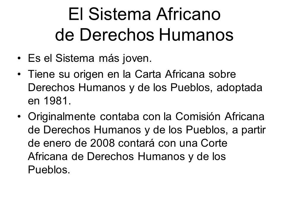 El Sistema Africano de Derechos Humanos