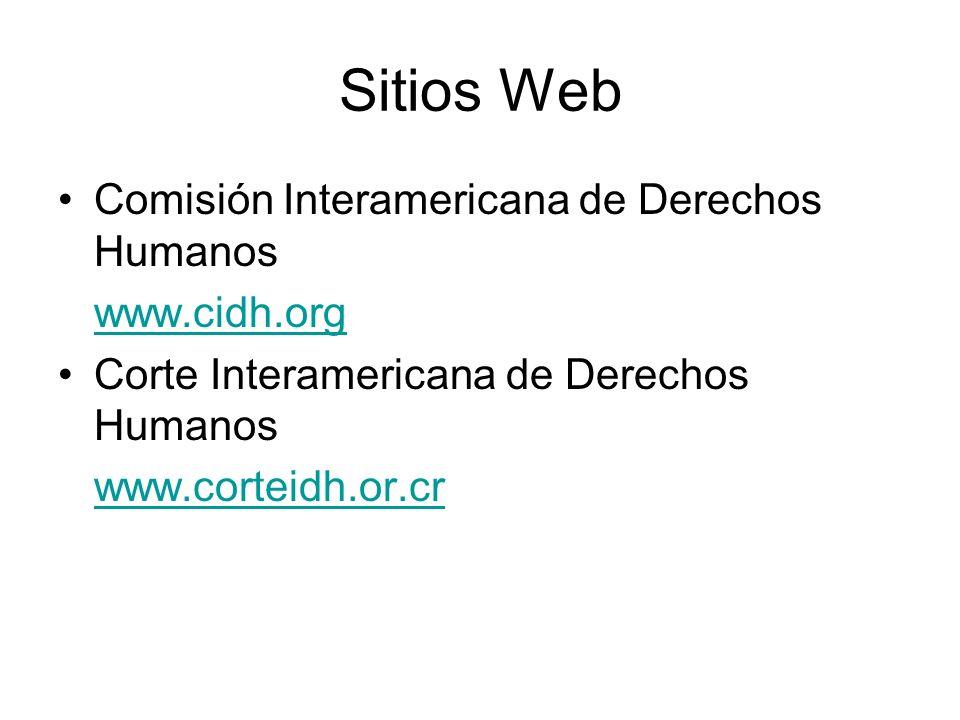 Sitios Web Comisión Interamericana de Derechos Humanos www.cidh.org