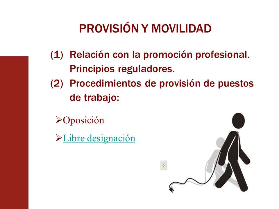 PROVISIÓN Y MOVILIDAD Relación con la promoción profesional. Principios reguladores. Procedimientos de provisión de puestos de trabajo: