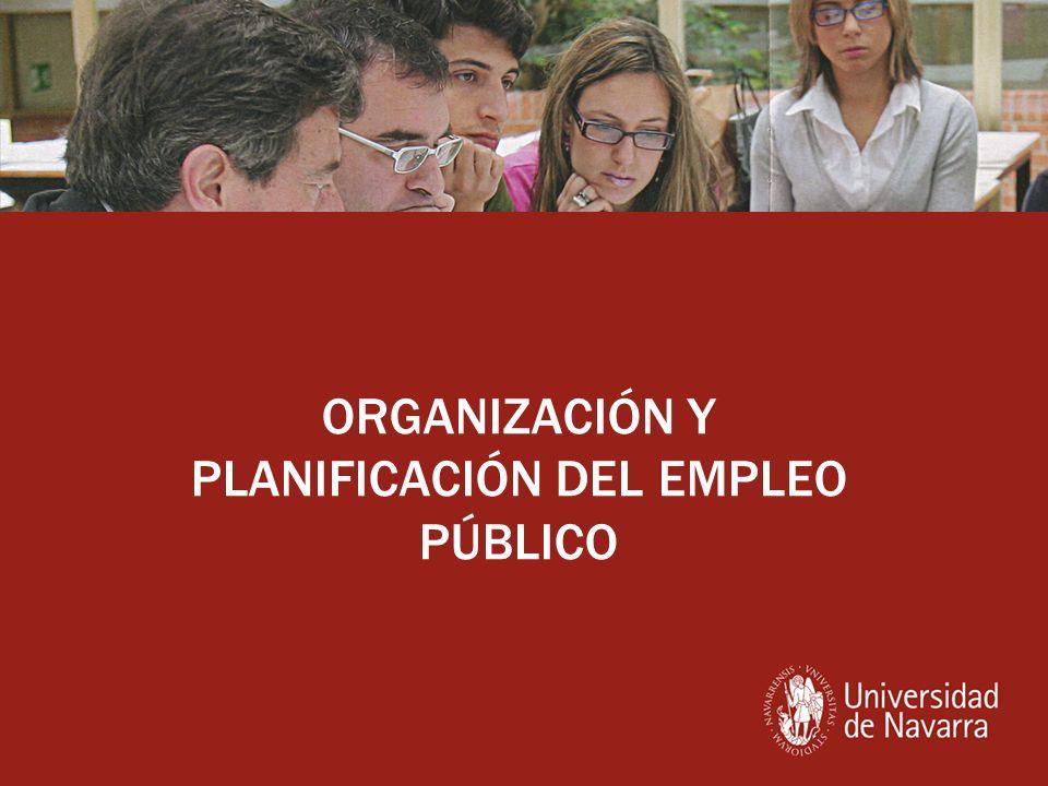 ORGANIZACIÓN Y PLANIFICACIÓN DEL EMPLEO PÚBLICO