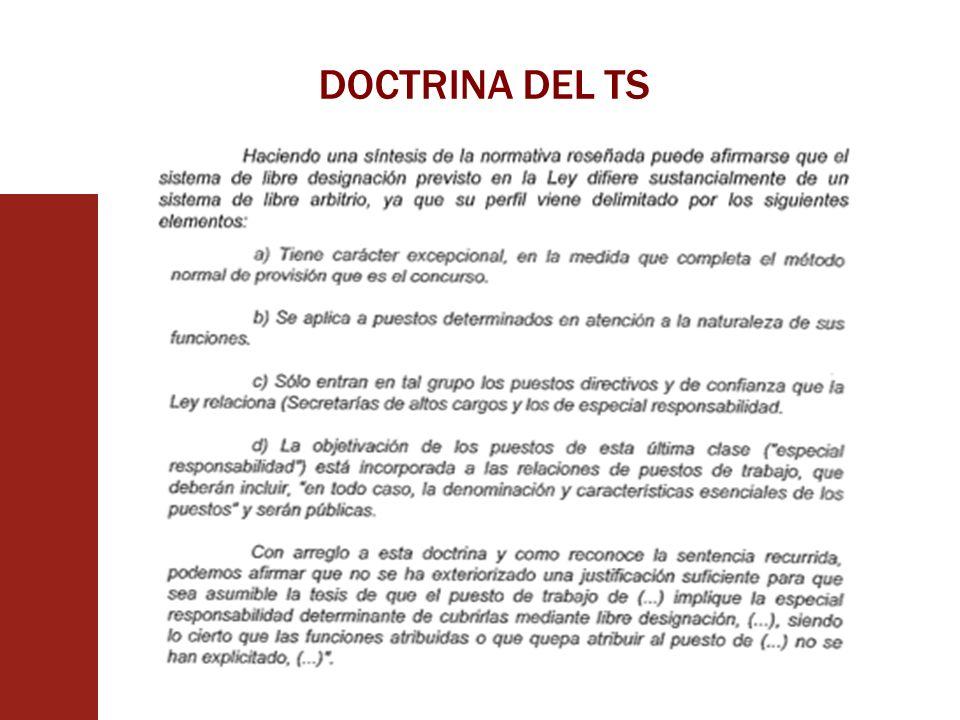 DOCTRINA DEL TS