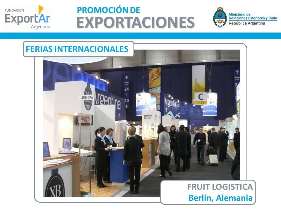 EXPORTACIONES PROMOCIÓN DE FERIAS INTERNACIONALES