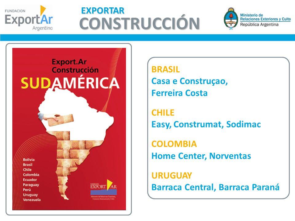 CONSTRUCCIÓN EXPORTAR BRASIL Casa e Construçao, Ferreira Costa CHILE