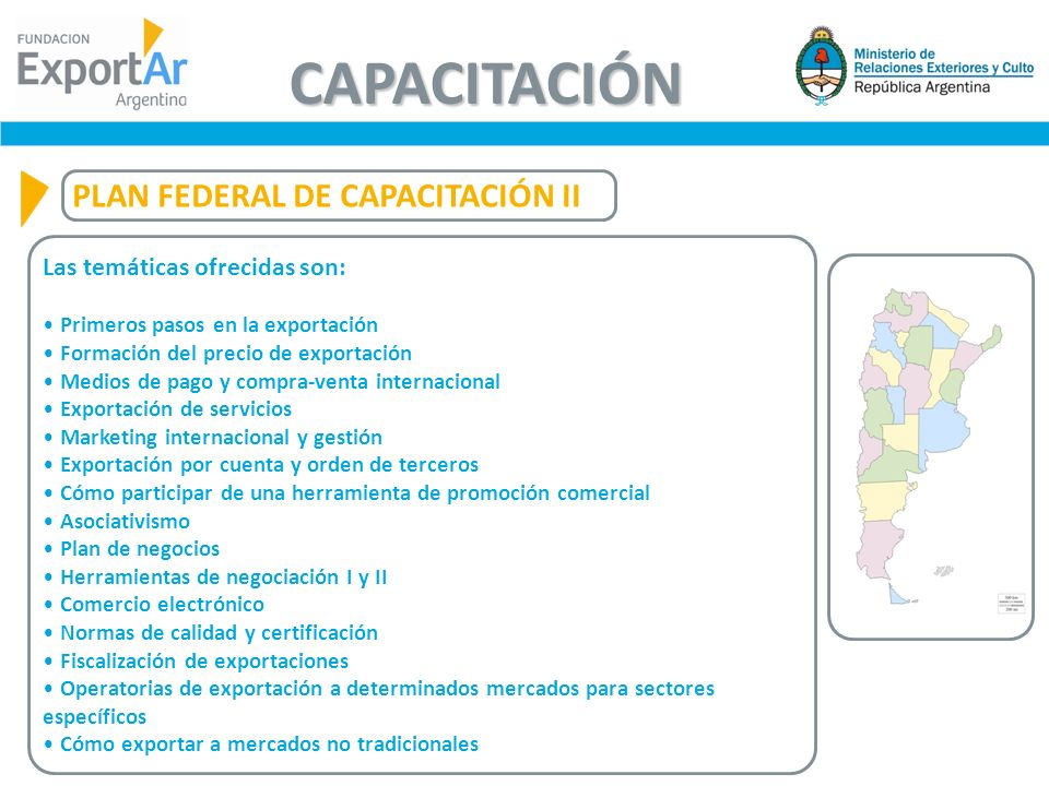 CAPACITACIÓN PLAN FEDERAL DE CAPACITACIÓN II