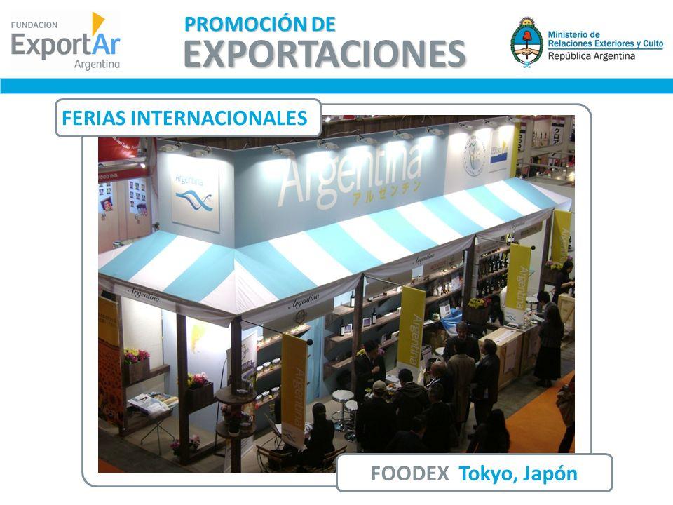 PROMOCIÓN DE EXPORTACIONES FERIAS INTERNACIONALES FOODEX Tokyo, Japón