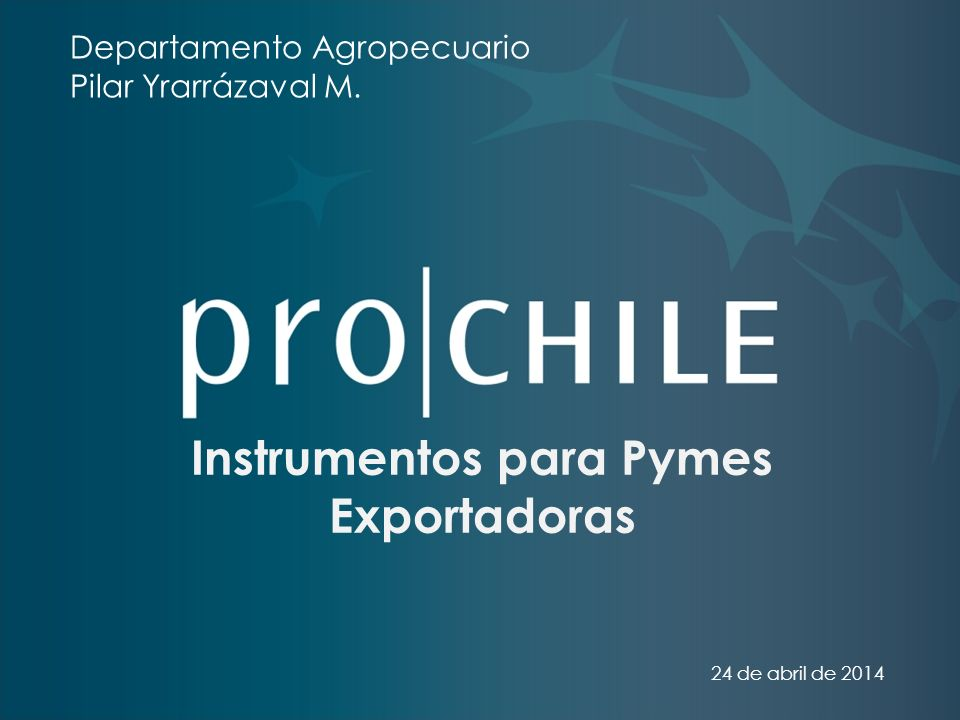 Instrumentos para Pymes Exportadoras