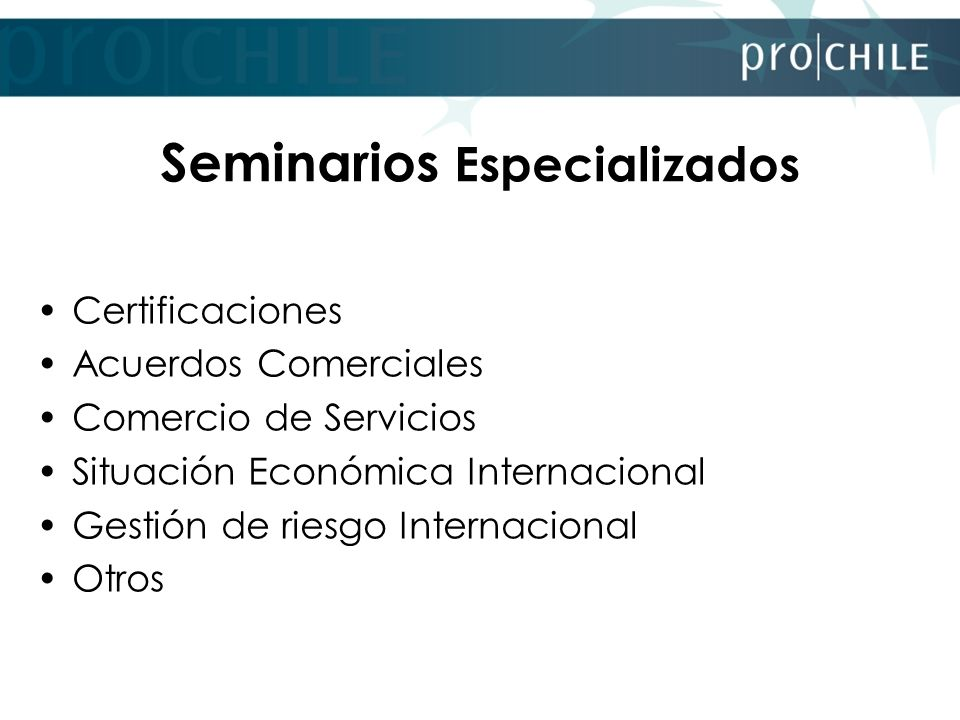 Seminarios Especializados
