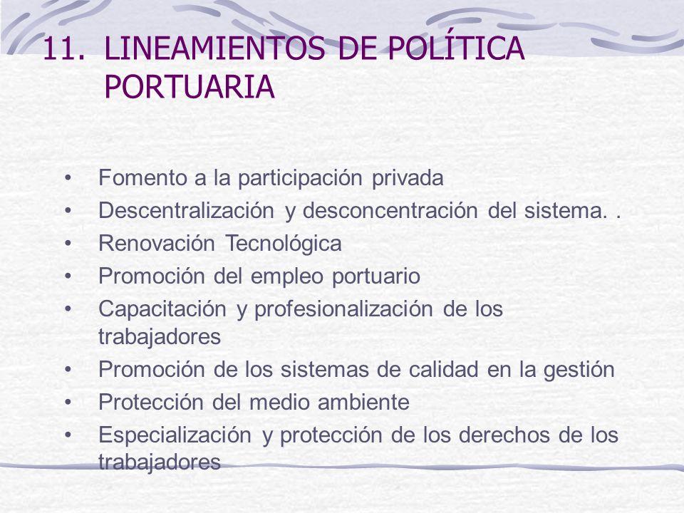 LINEAMIENTOS DE POLÍTICA PORTUARIA