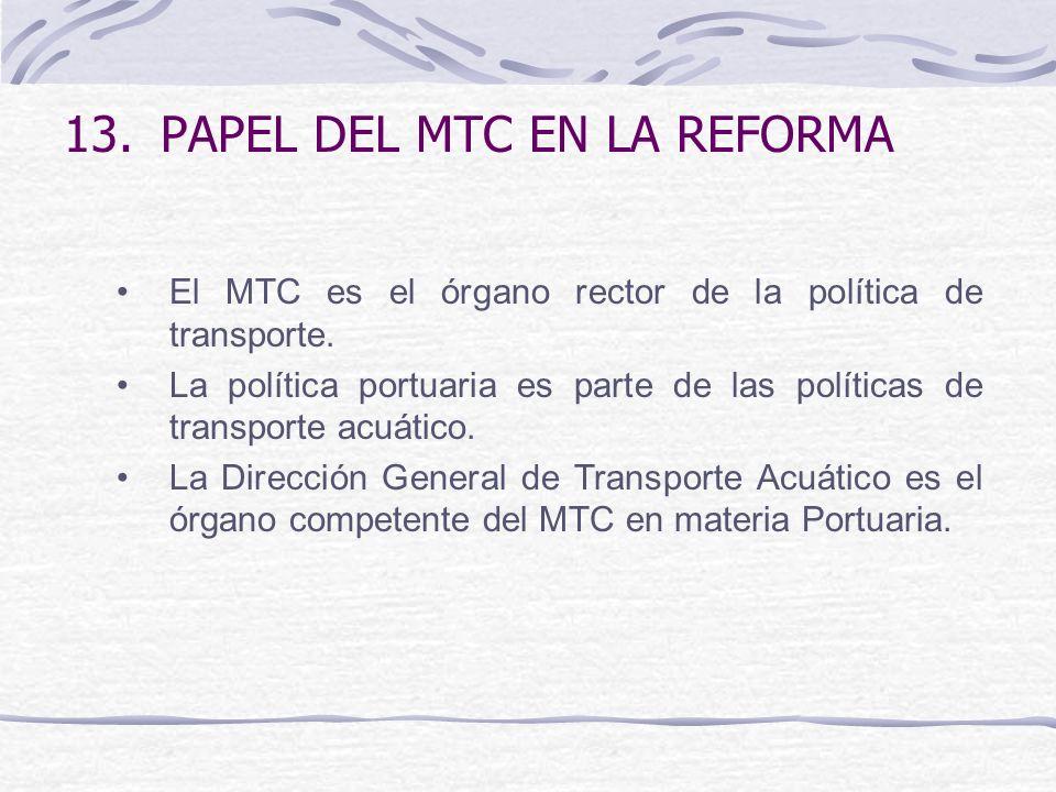 PAPEL DEL MTC EN LA REFORMA