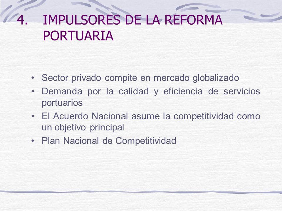 IMPULSORES DE LA REFORMA PORTUARIA