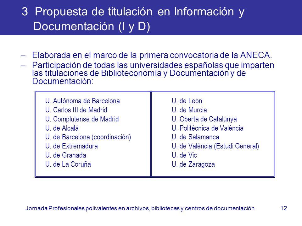 3 Propuesta de titulación en Información y Documentación (I y D)