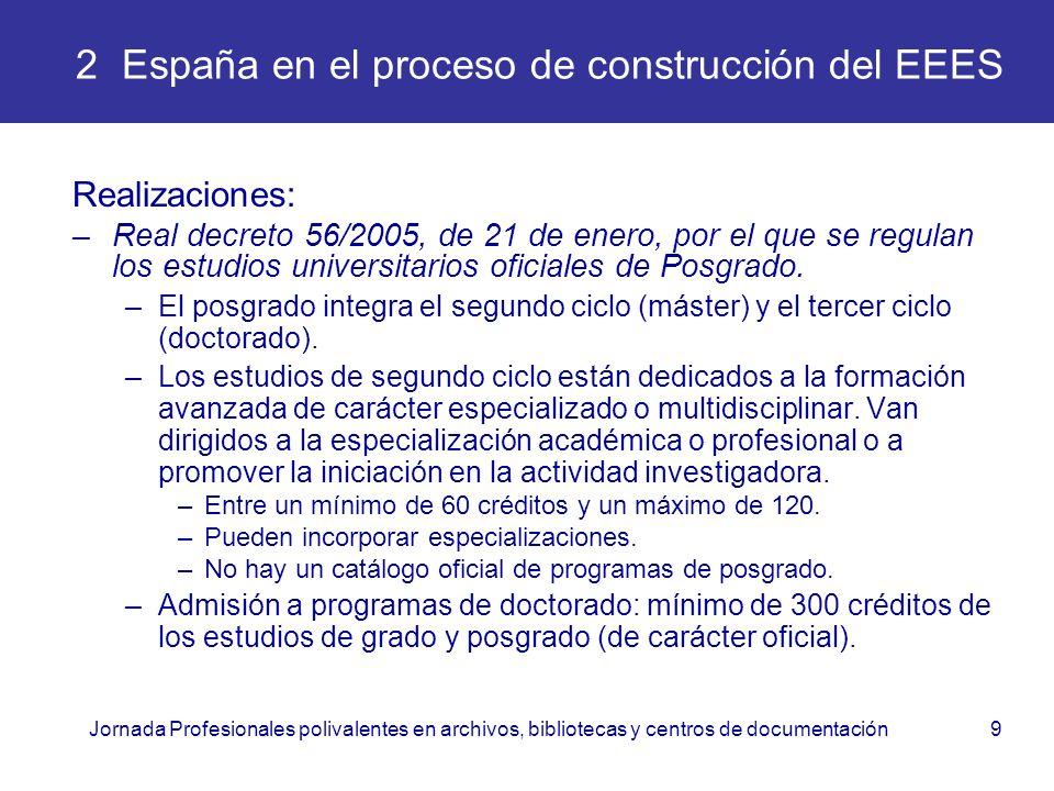 2 España en el proceso de construcción del EEES