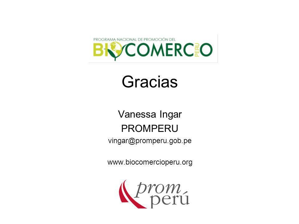 Gracias Vanessa Ingar PROMPERU vingar@promperu.gob.pe
