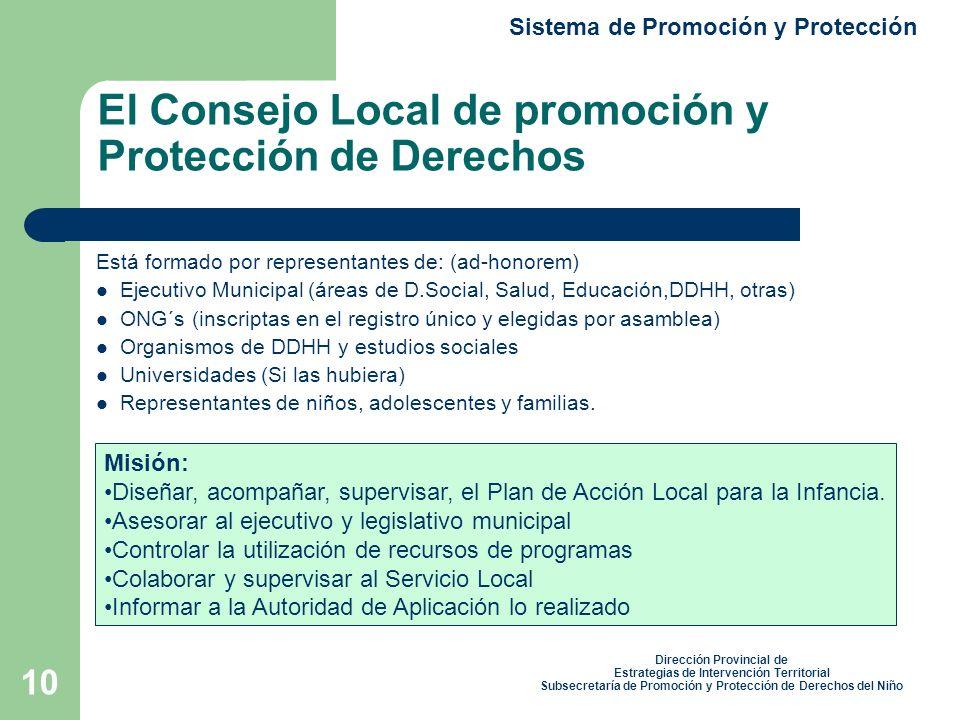 El Consejo Local de promoción y Protección de Derechos