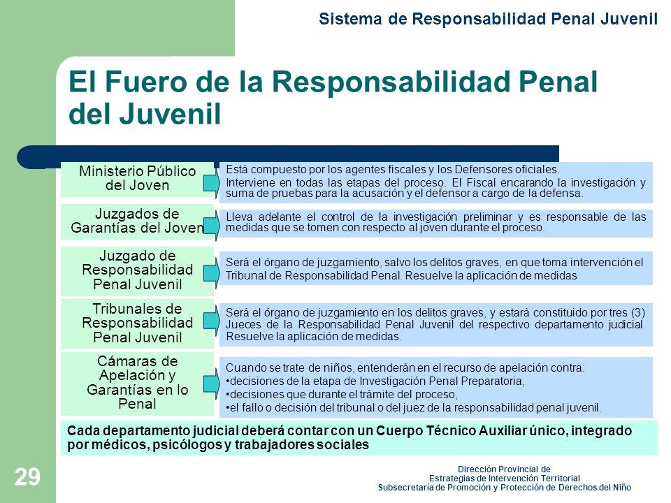 El Fuero de la Responsabilidad Penal del Juvenil