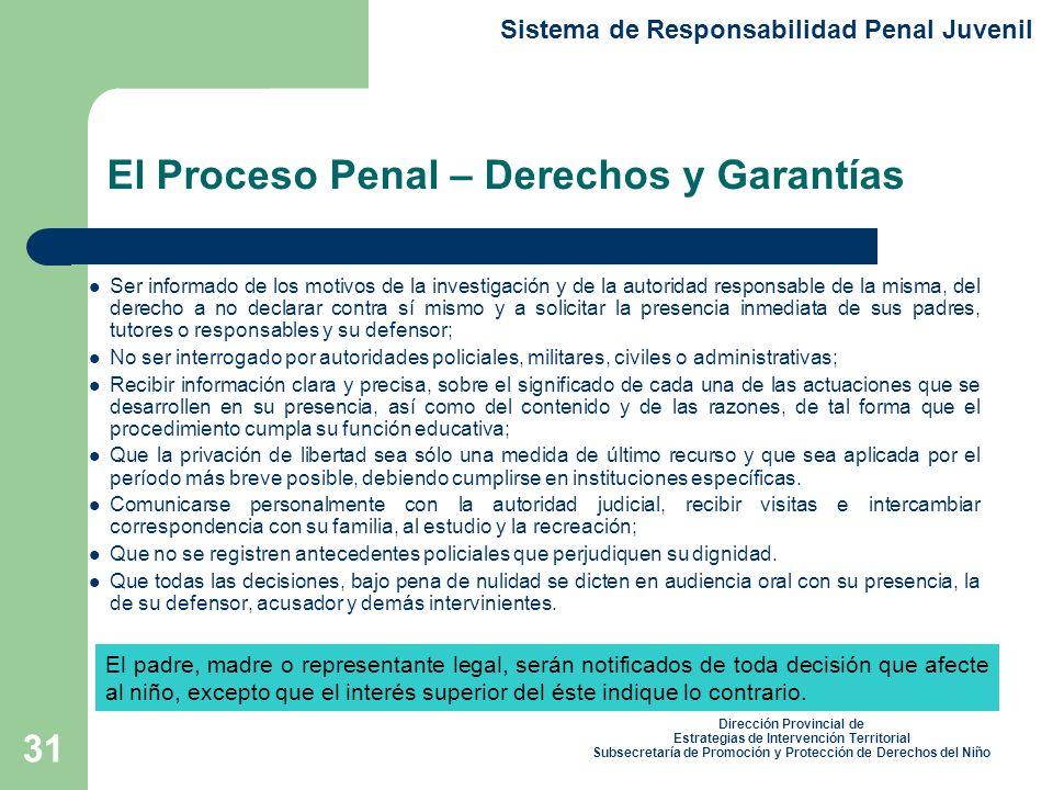 El Proceso Penal – Derechos y Garantías