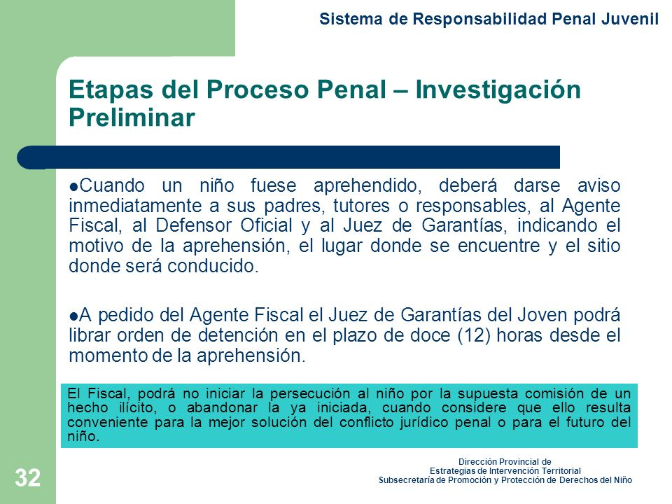 Etapas del Proceso Penal – Investigación Preliminar