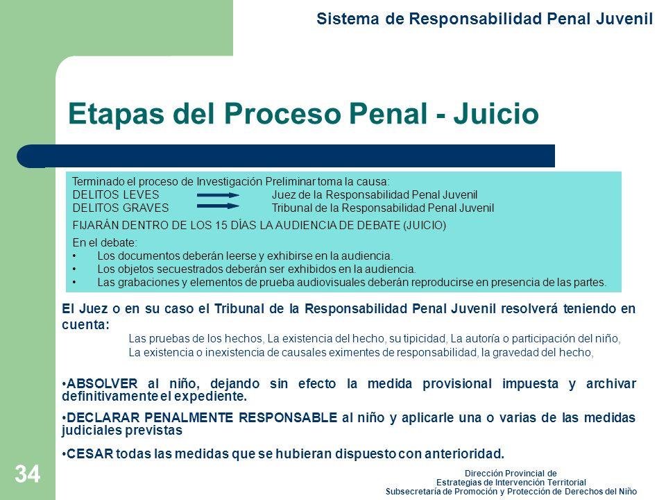 Etapas del Proceso Penal - Juicio