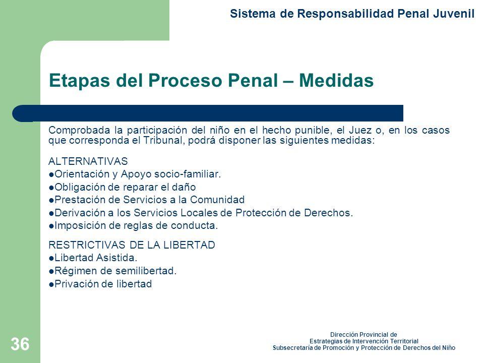 Etapas del Proceso Penal – Medidas