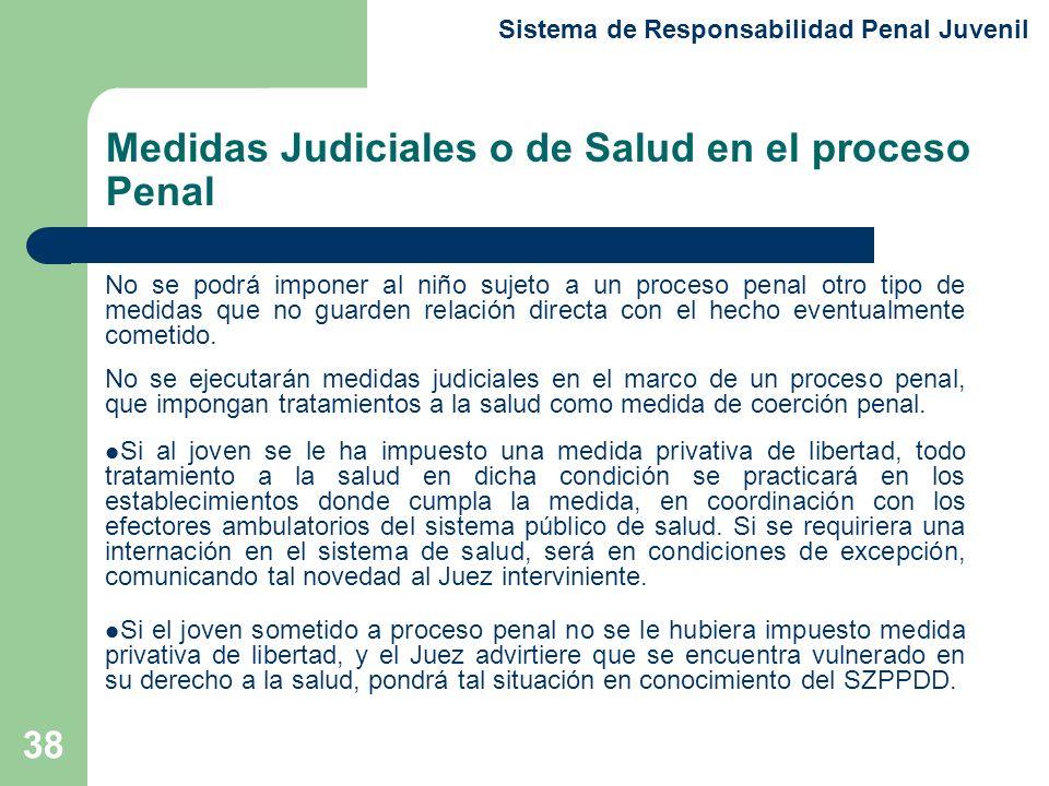 Medidas Judiciales o de Salud en el proceso Penal