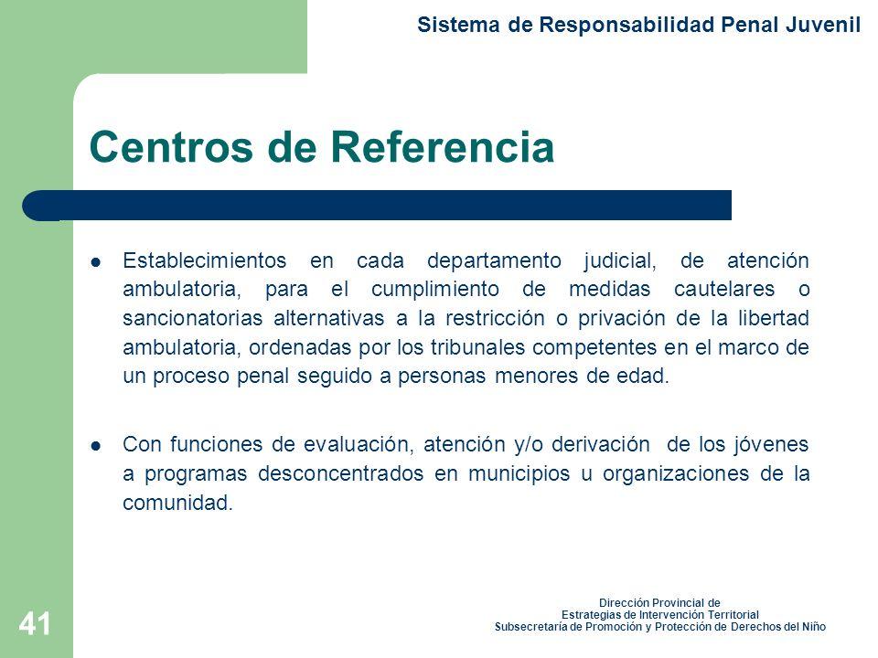 Centros de Referencia Sistema de Responsabilidad Penal Juvenil