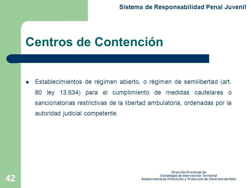 Centros de Contención Sistema de Responsabilidad Penal Juvenil