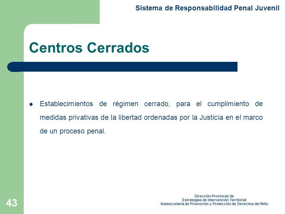 Centros Cerrados Sistema de Responsabilidad Penal Juvenil