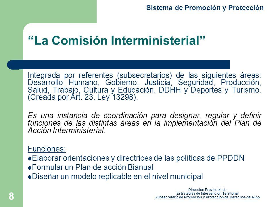 La Comisión Interministerial