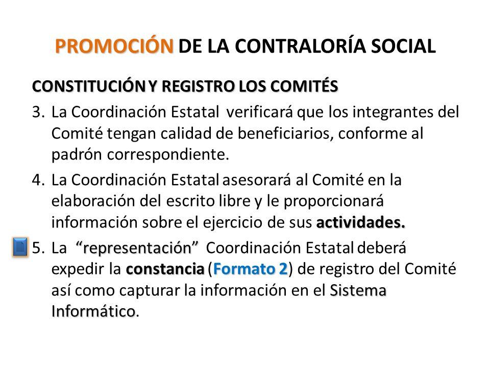 PROMOCIÓN DE LA CONTRALORÍA SOCIAL