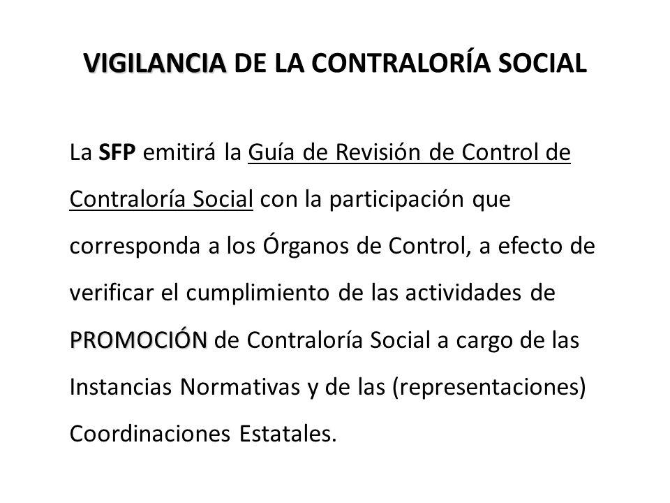 VIGILANCIA DE LA CONTRALORÍA SOCIAL