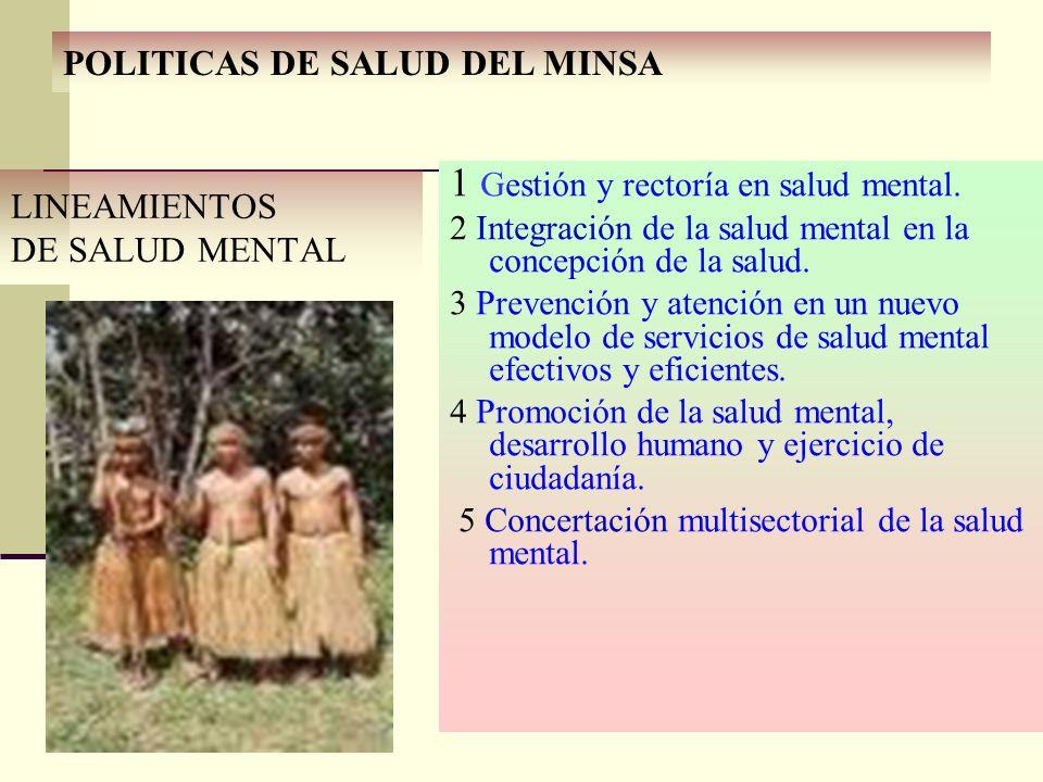 POLITICAS DE SALUD DEL MINSA