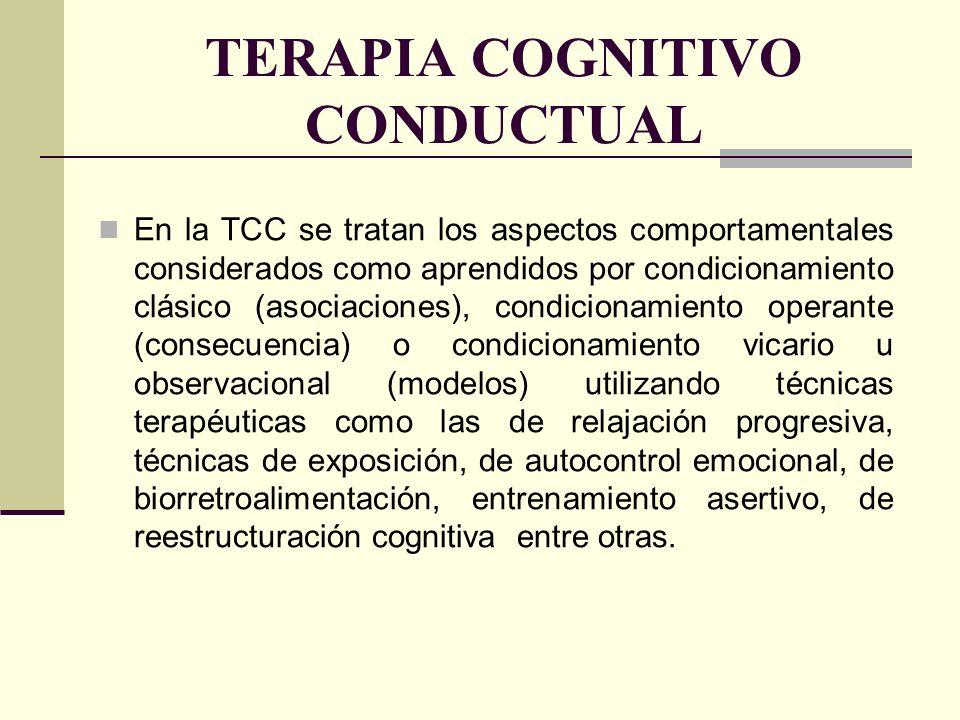 TRATAMIENTO DE LOS TRASTORNOS MENTALES Y DEL COMPORTAMIENTO