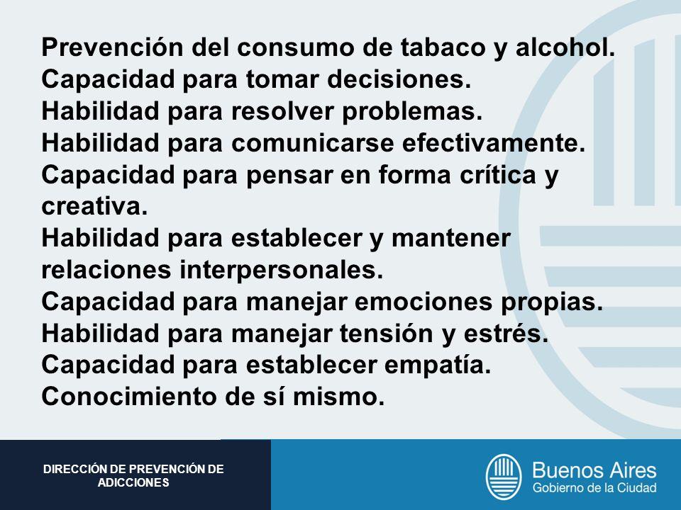 Prevención del consumo de tabaco y alcohol