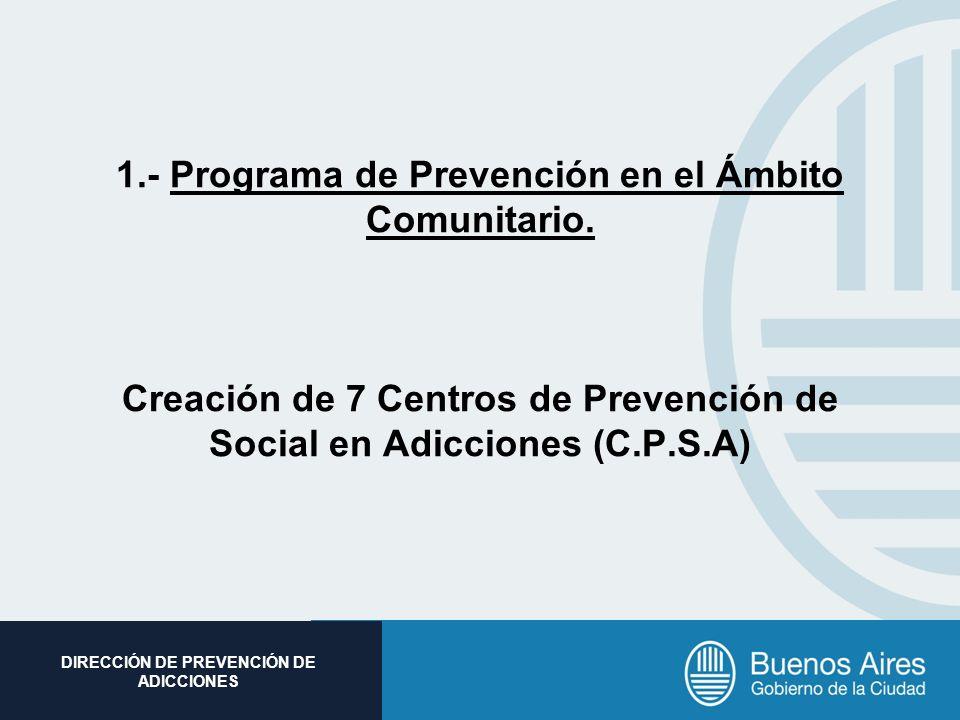 1. - Programa de Prevención en el Ámbito Comunitario