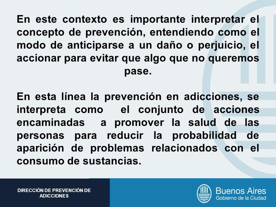 En este contexto es importante interpretar el concepto de prevención, entendiendo como el modo de anticiparse a un daño o perjuicio, el accionar para evitar que algo que no queremos pase.