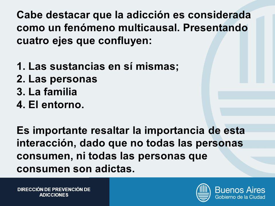 Cabe destacar que la adicción es considerada como un fenómeno multicausal.