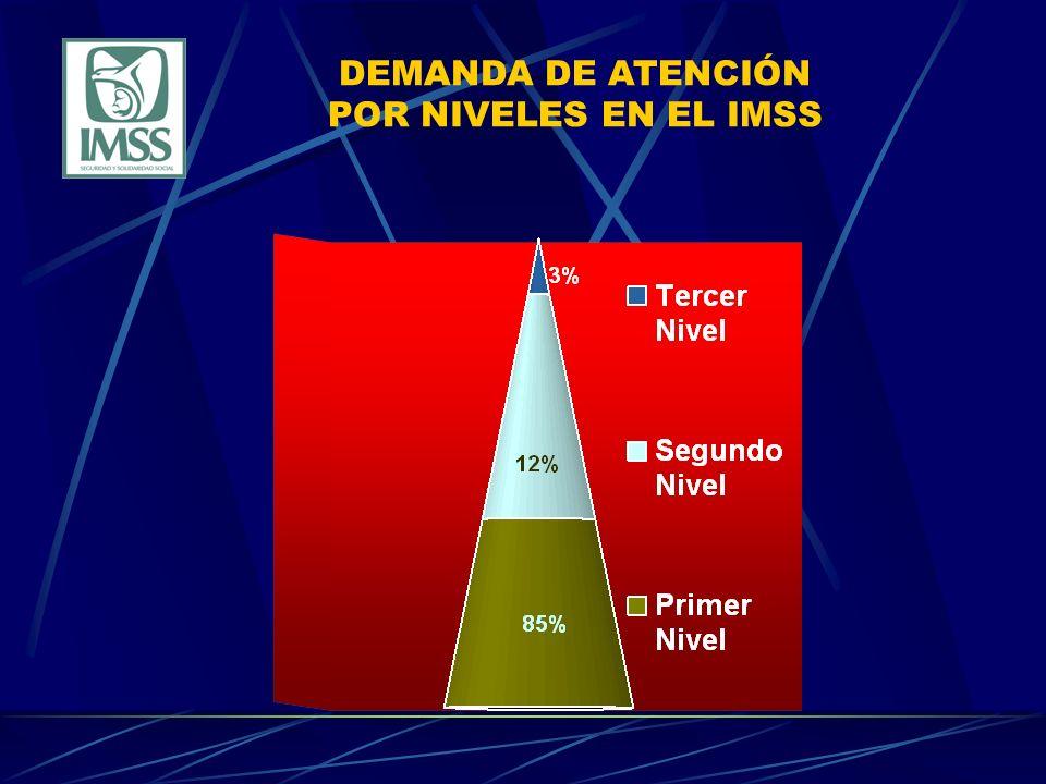 DEMANDA DE ATENCIÓN POR NIVELES EN EL IMSS