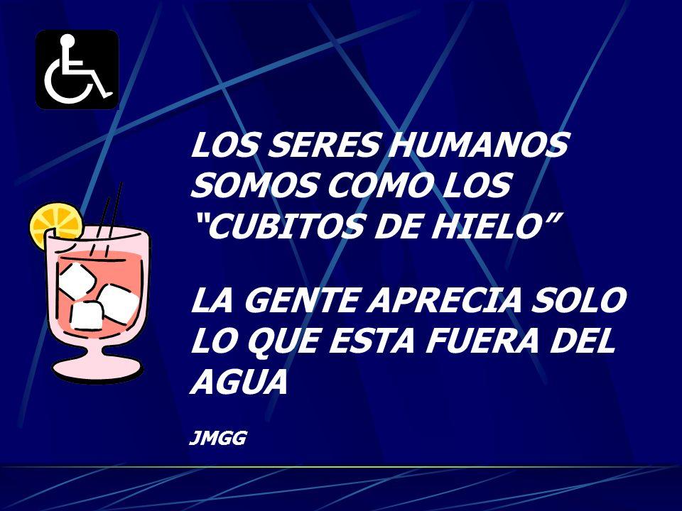 LOS SERES HUMANOS SOMOS COMO LOS CUBITOS DE HIELO