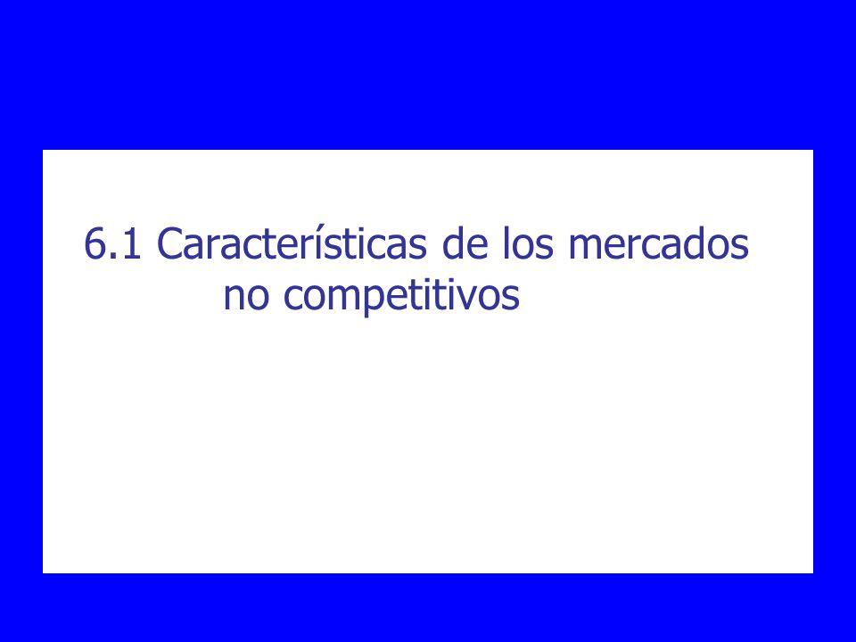 6.1 Características de los mercados no competitivos
