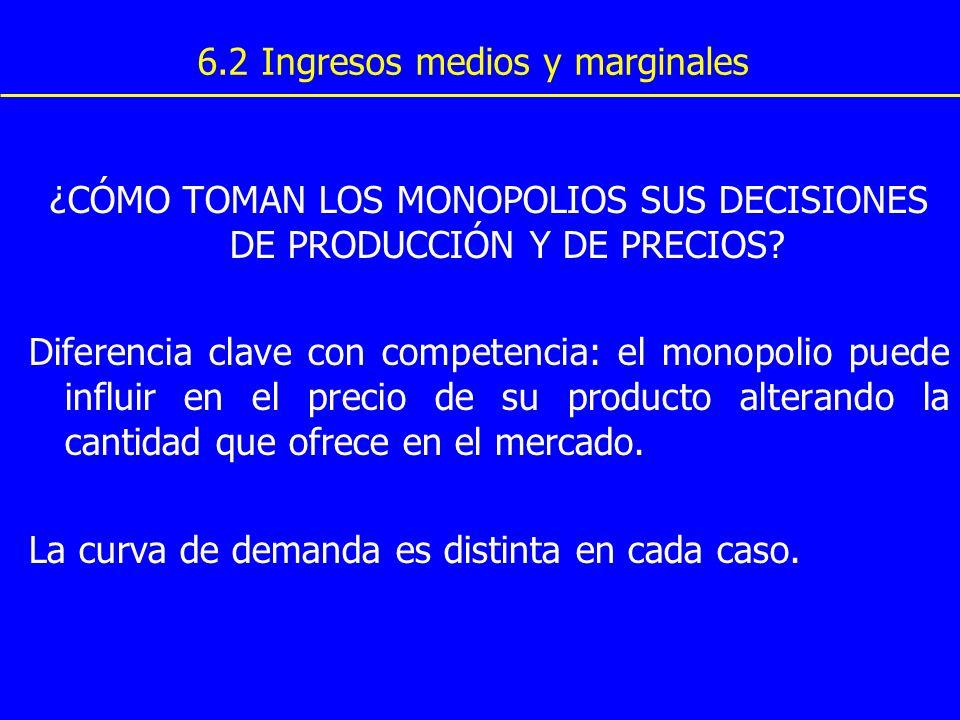 6.2 Ingresos medios y marginales