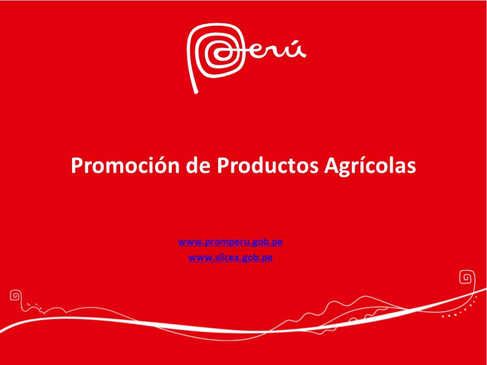 Promoción de Productos Agrícolas