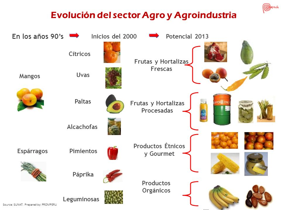 Evolución del sector Agro y Agroindustria Frutas y Hortalizas Frescas
