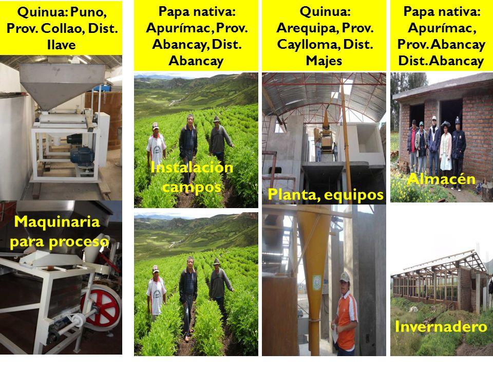 Instalación campos Almacén Planta, equipos Maquinaria para proceso