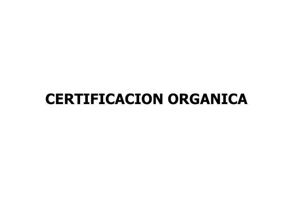 CERTIFICACION ORGANICA