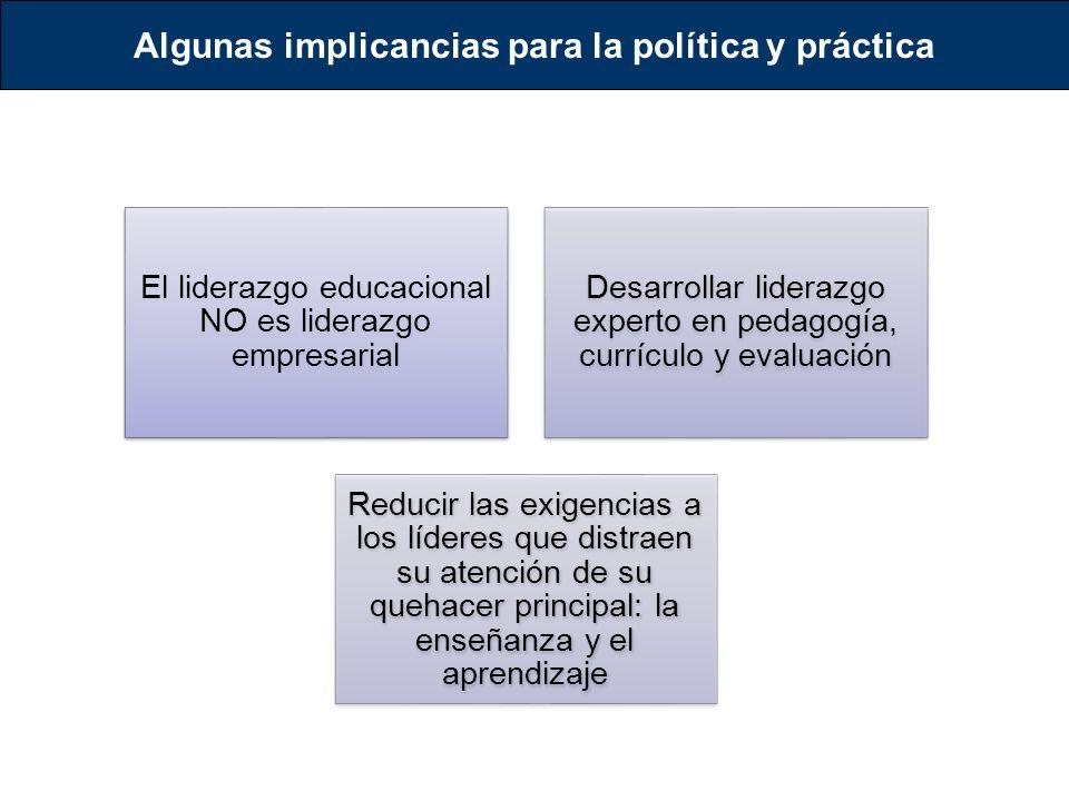 Algunas implicancias para la política y práctica