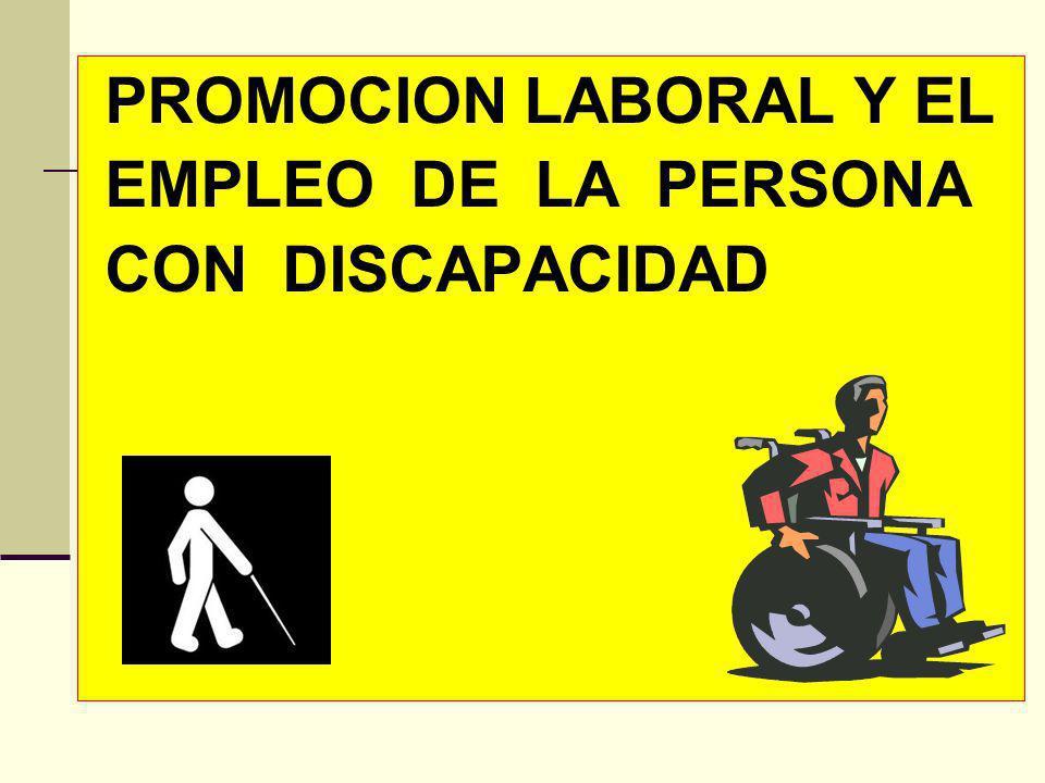 PROMOCION LABORAL Y EL EMPLEO DE LA PERSONA CON DISCAPACIDAD