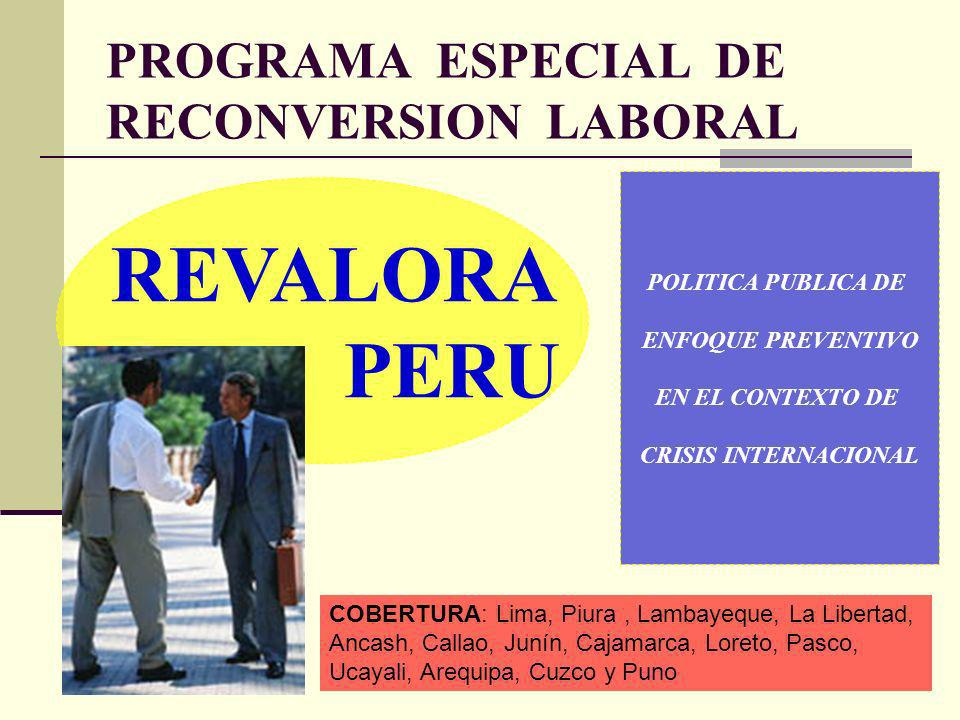 PROGRAMA ESPECIAL DE RECONVERSION LABORAL
